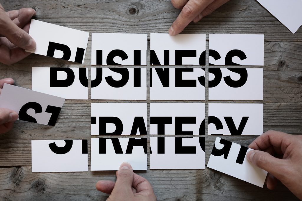 Business team finding a business strategy